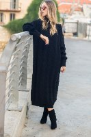 שמלת סריג מקסי דגם מוניקה