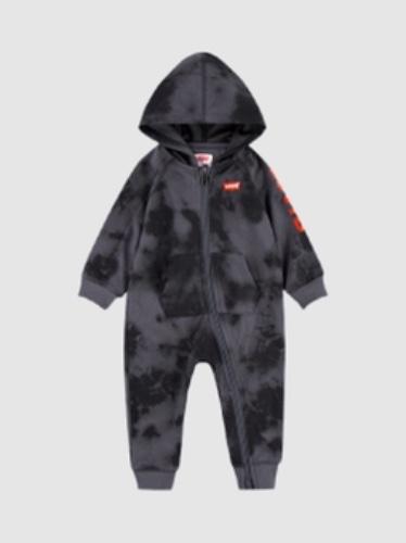 Levis אוברול טאי דאי אפור לוגו אדום תינוקות מידות NB-24 חודשים