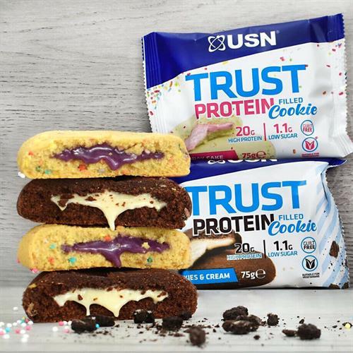 USN TRUST Cookie 75g|עוגייה חלבון קרמית 1 יח
