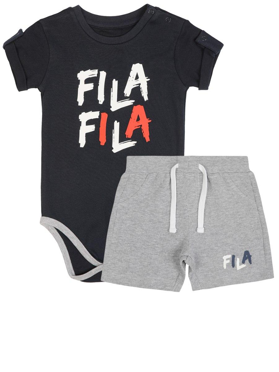 חליפת תינוק בגד גוף מכנס ריב FILA