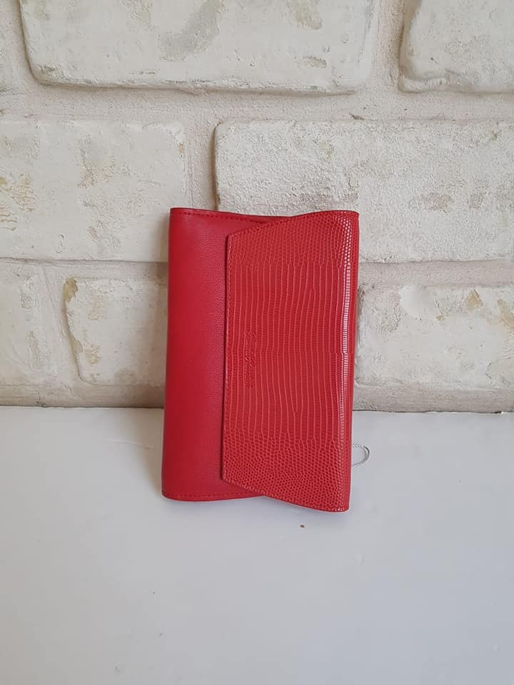 ארנק דמוי עור בינוני אדום 4034