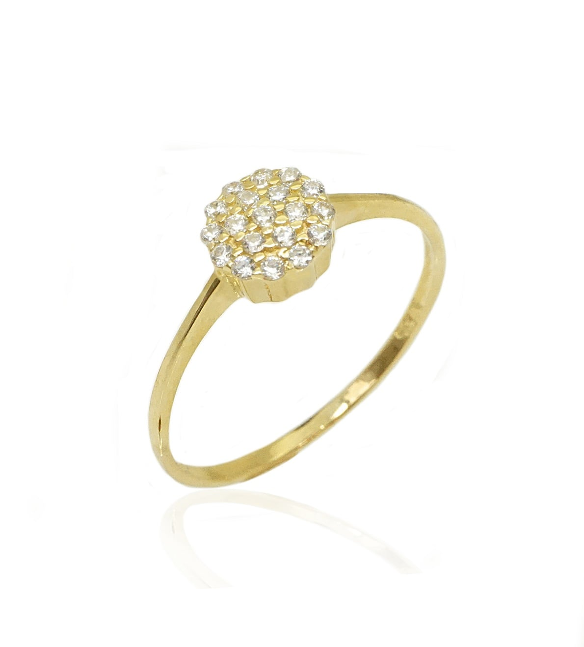 טבעת זהב זרקונים |טבעת עדינה וחמודה