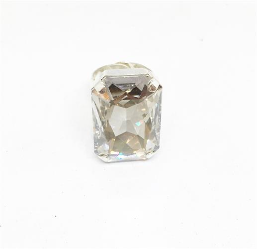 טבעת איריס לבן כסף