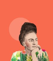 הדפס ציור- פרידה קאלו טרופית