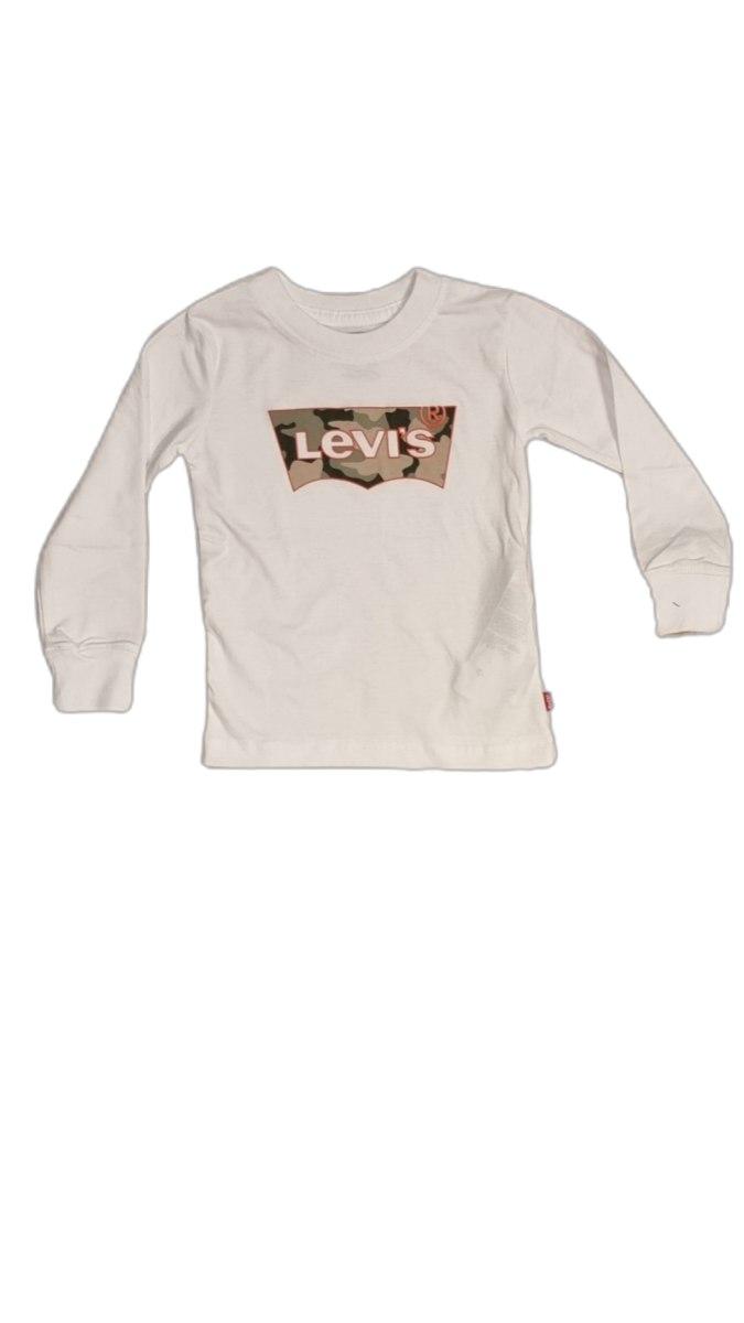 חולצת טישרט לבנה לוגו צבאי  LEVIS (2-13)