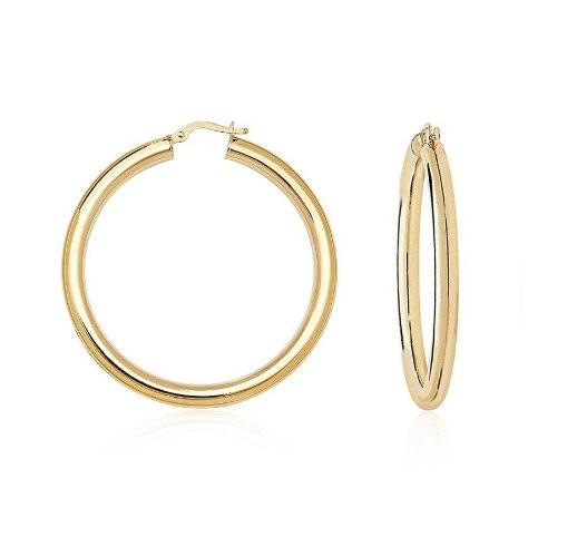 עגילי זהב חישוק לאישה בקוטר 3.7 סמ