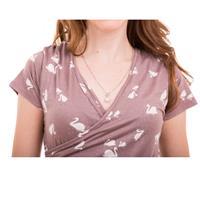שמלת הנקה מעטפת שרוול קצר NursingAnywear