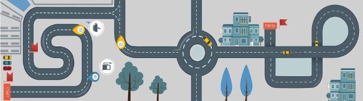 1 יח' טפט להדבקה על כוורת (KALLAX)- מסלול מכוניות2