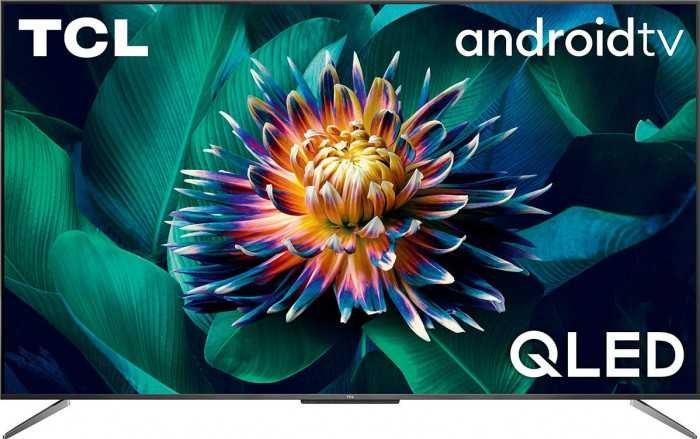 """טלוויזיה """"50 TCL חכמה QLED UHD/4K 50C715 ללא מסגרת הפעלה קולית"""