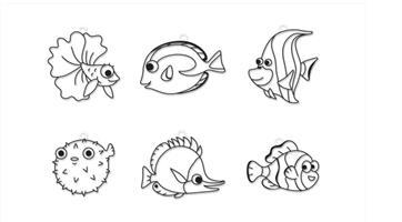 קיט צבעי חלון +  צורות דגים טרופים AMOS