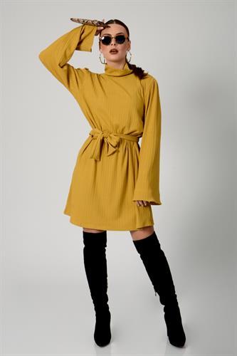 שמלת קלואי חרדל