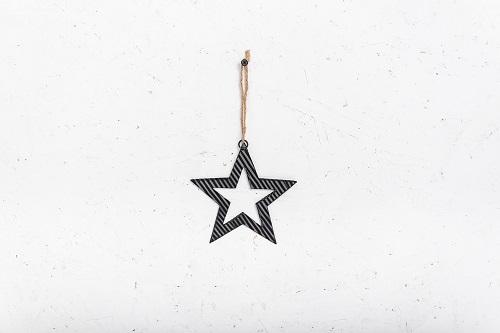 כוכב פח גלי - שחור