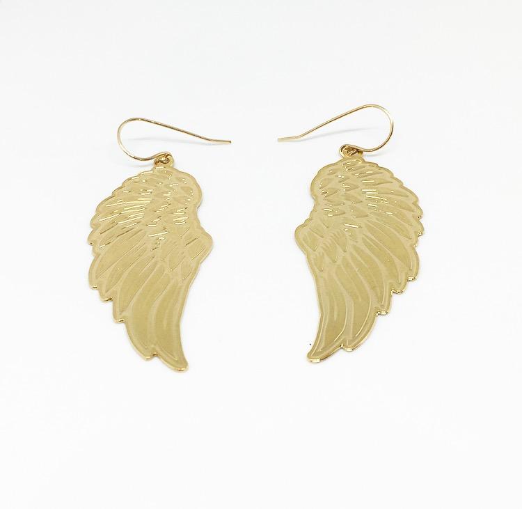 עגילי כנף גדולים זהב