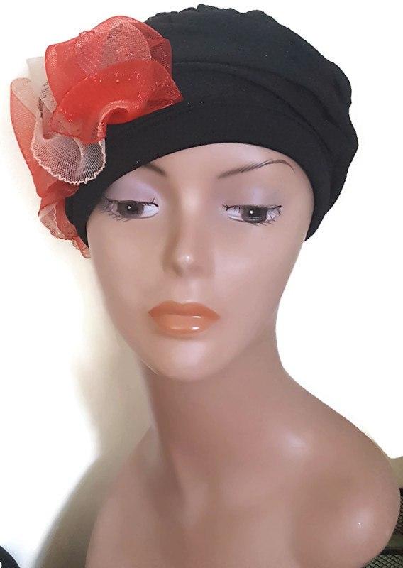 כובע מעוצב אלגנטי/שחור