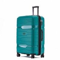 סט 2 מזוודות חזקות במיוחד TESLA POLYPROPYLENE - צבע טורקיז