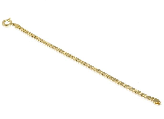צמיד חוליות קארב לאשה - 18 סמ - רוחב 4.10 ממ
