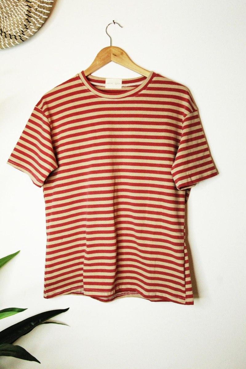 חולצה עבה פסים אדום