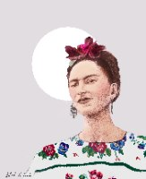הדפס ציור נייר - שלישיית פרידה קאלו