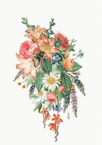 הדפס קנבס - פרחים