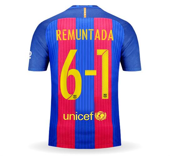 חולצת משחק ברצלונה בית REMUNTADA מהדורה מוגבלת!