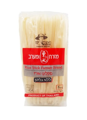 מקלוני אורז ללא גלוטן 454 גרם ״מזרח ומערב״