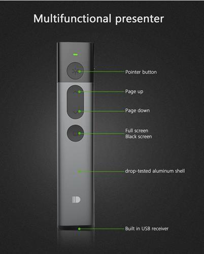 שלט רחוק למצגות  Spotlight מקצועי עם לייזר ירוק-תואם logitech