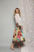 חצאית סאטן צבעונית