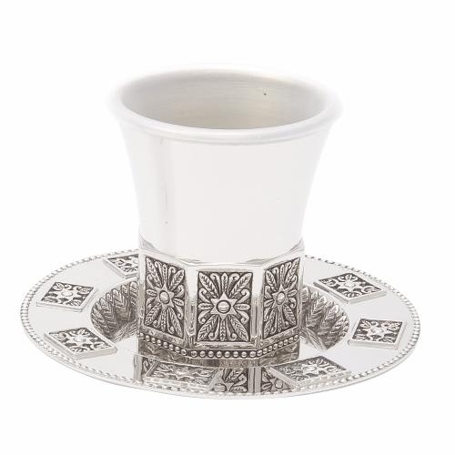 גביע קידוש ניקל מתומן בלי רגל +תחתית