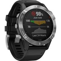 שעון דופק Garmin Fenix 6 Silver with Black Band