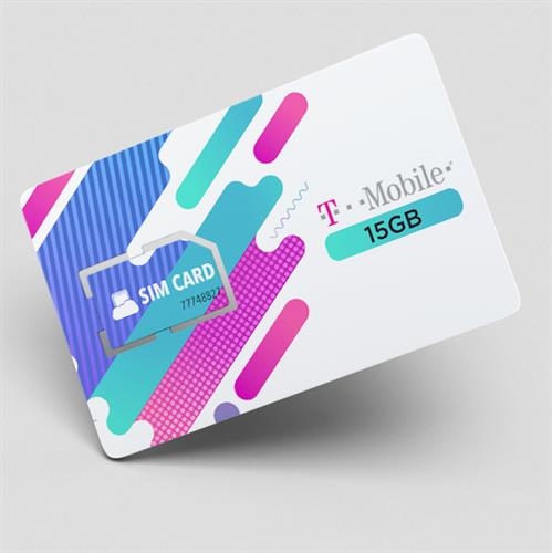 כרטיס סים 15 גיגה רשת T MOBILE