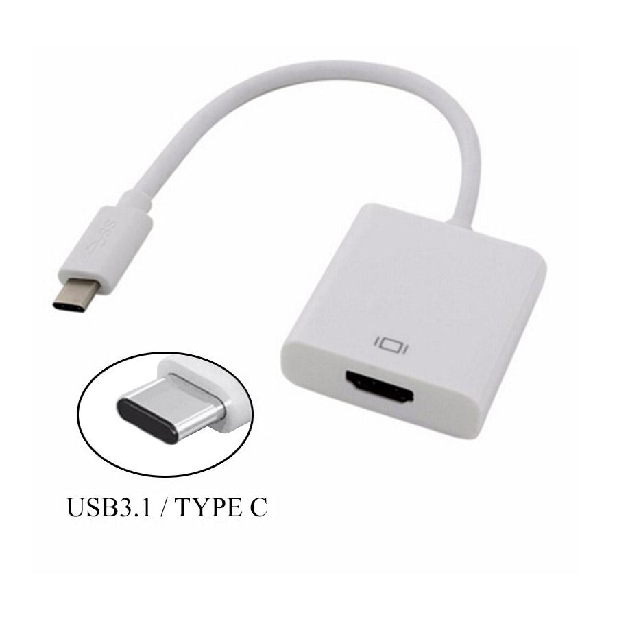 מתאם מחיבור USB 3.1 Type-C זכר לחיבור HDMI נקבה Gold Touch