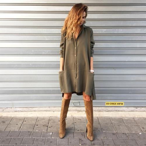 שמלת ברוקלין ירוקה
