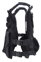 Tactical bulleproof vest with an inner belt - black