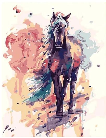 צביעה לפי מספרים - סוסון