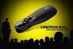 שלט/קליקר רחוק למצגות דגם r400-לוגיטק/logitech