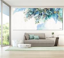 ציור אבסטרקטי כחול