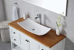 ארון אמבטיה עומד עץ מלא דגם טארס TARES