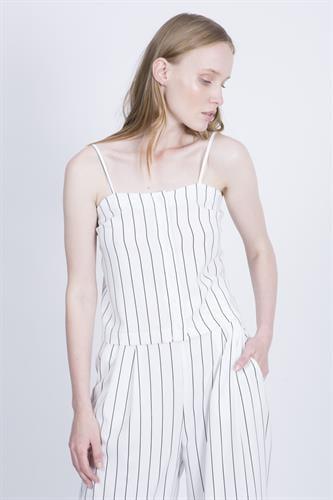 חליפת מלני פסים לבן