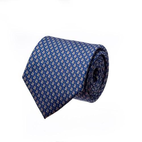 עניבה דגם גיטרה כחול נייבי