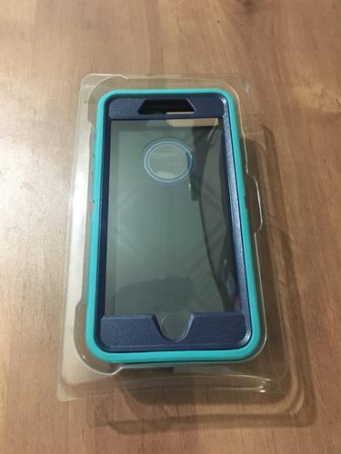 Otterbox defender תלת שכבתי (טורקיז\כחול) לאייפון 7 פלוס