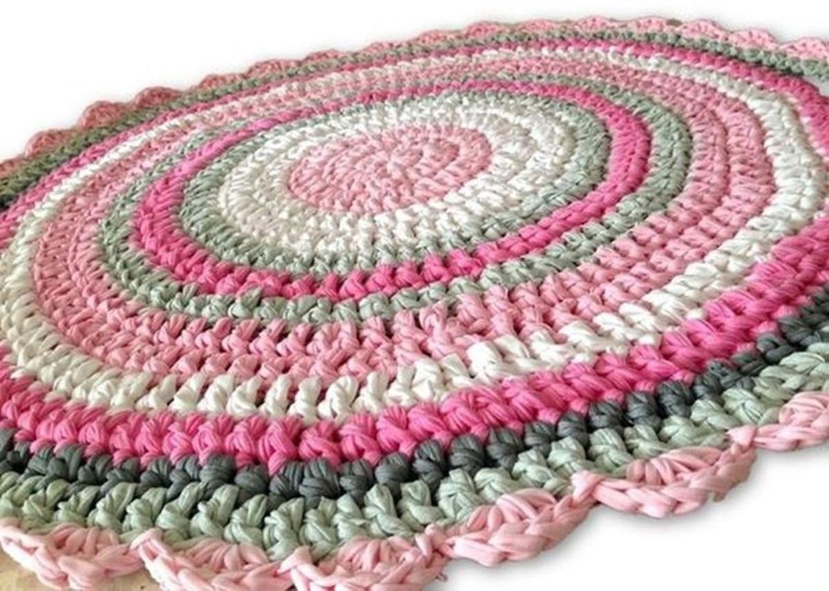 שטיחים סרוגים, שטיח סרוג, שטיח מטריקו, חוטי טריקו, שטיח לחדר של ילדה, שטיח סרוג לחדר של תינוקת, חדר לילדה, שטיחים , שטיחים סרוגים ,שטיח ורוד
