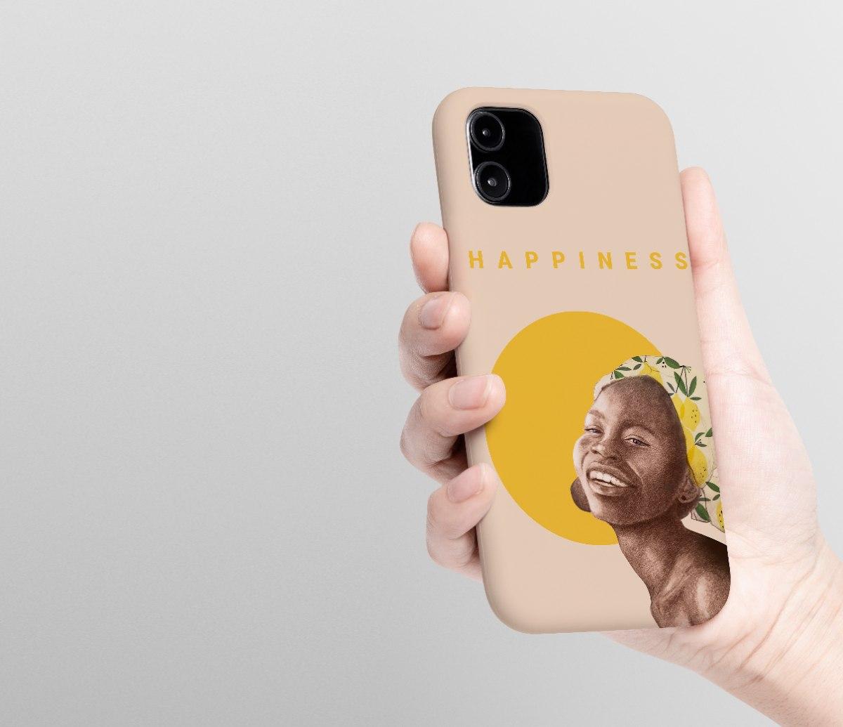 מגן לטלפון - Happiness