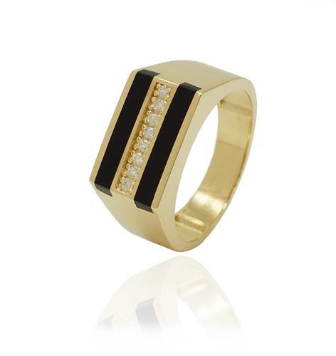 טבעת לגבר טבעות משובצות לגבר