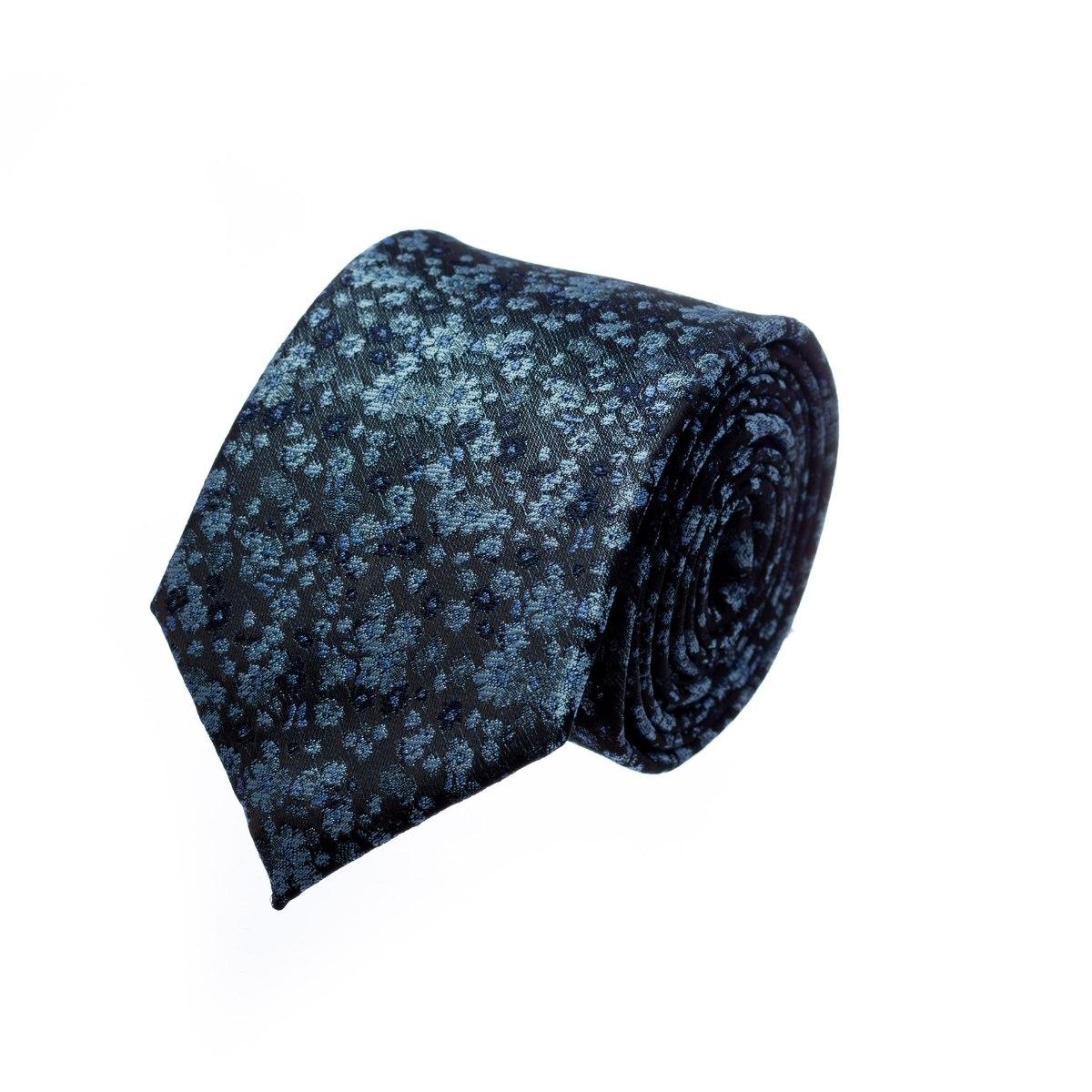 עניבה פרחים קטנים כחול תכלת