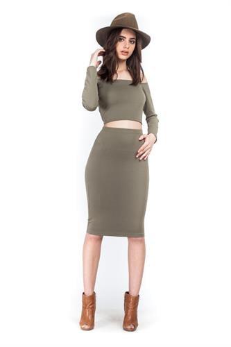 חצאית אודרי ירוקה