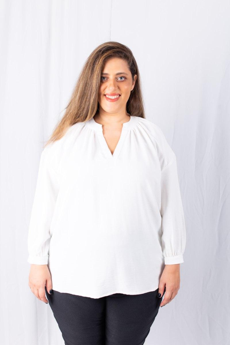 חולצת בלייק לבנה