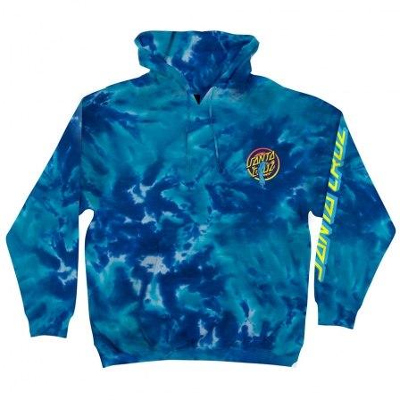 SANTA CRUZ Roskopp Dot PO Hooded Midweight Sweatshirt Multi Blue Mens