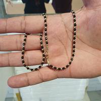 שרשרת זהב לגבר כדורי זהב ואבני אוניקס טבעיות