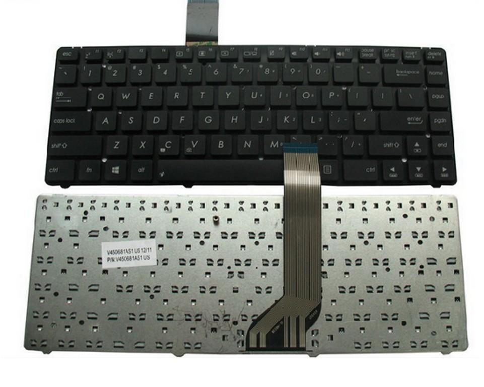מקלדת להחלפה במחשב נייד אסוס ASUS N45 N46 S400 S46 K45 K45VD S505 Laptop Keyboard without frame