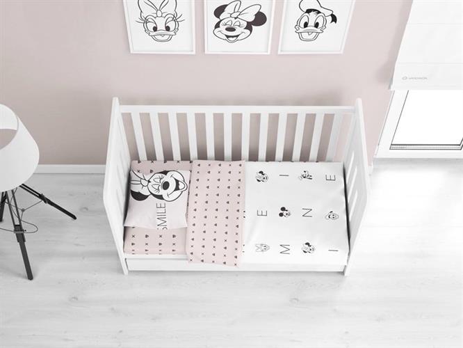 סט מלא מיטת תינוק ורדינון מינימאוס